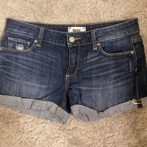 Paige Rolled Cuff Denim Shorts Size 27